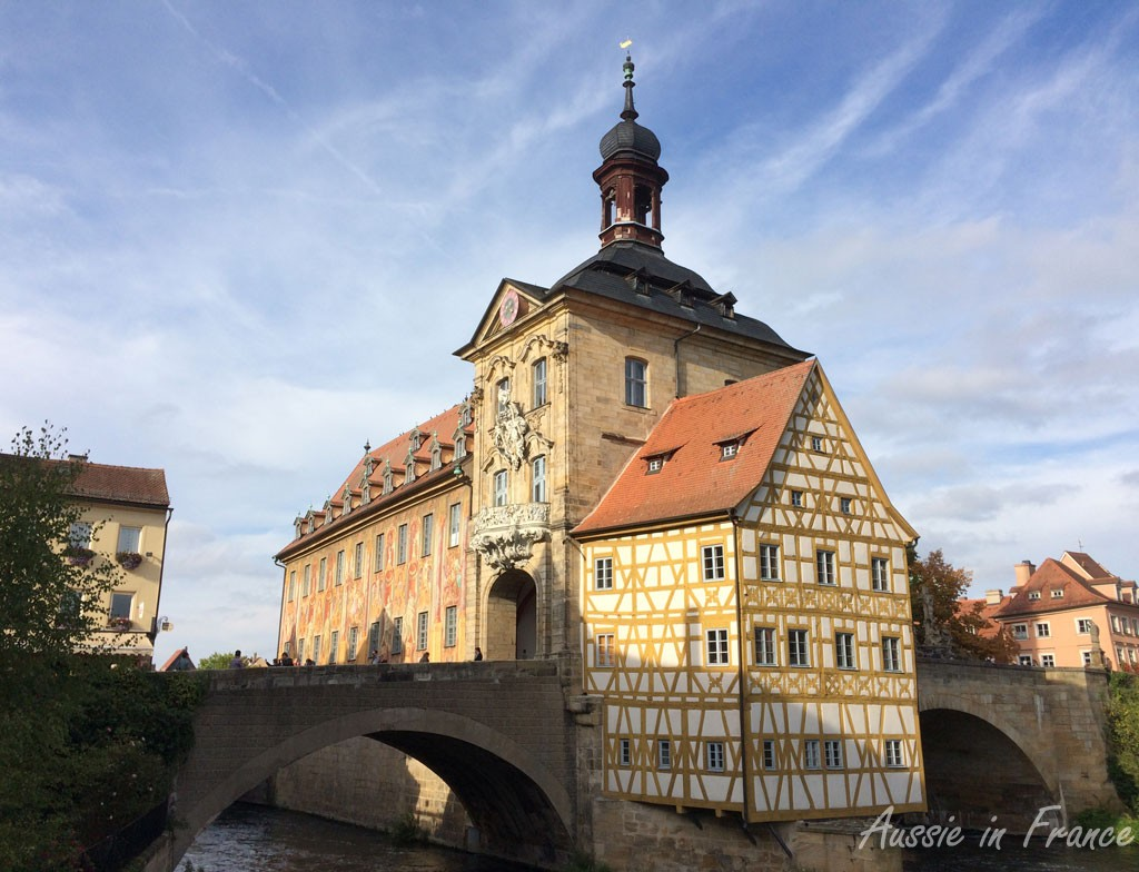 The Altes Rathaus, Bamberg's most well-known building