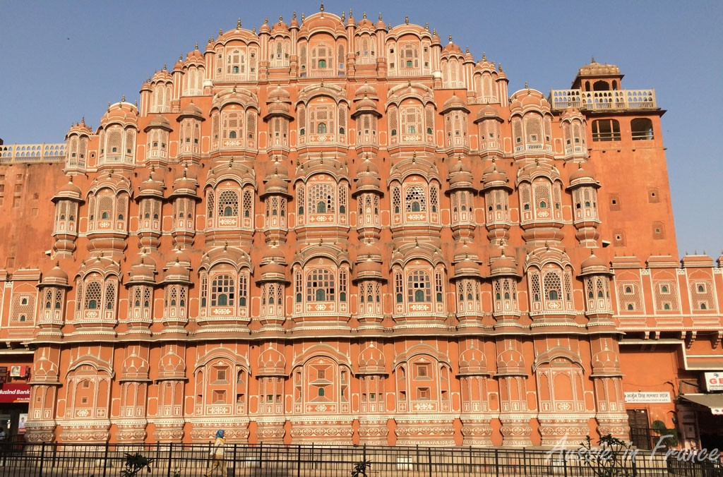 Mawal, the Palace of Breezes (sometimes called the Palace of Winds) in Jaipur