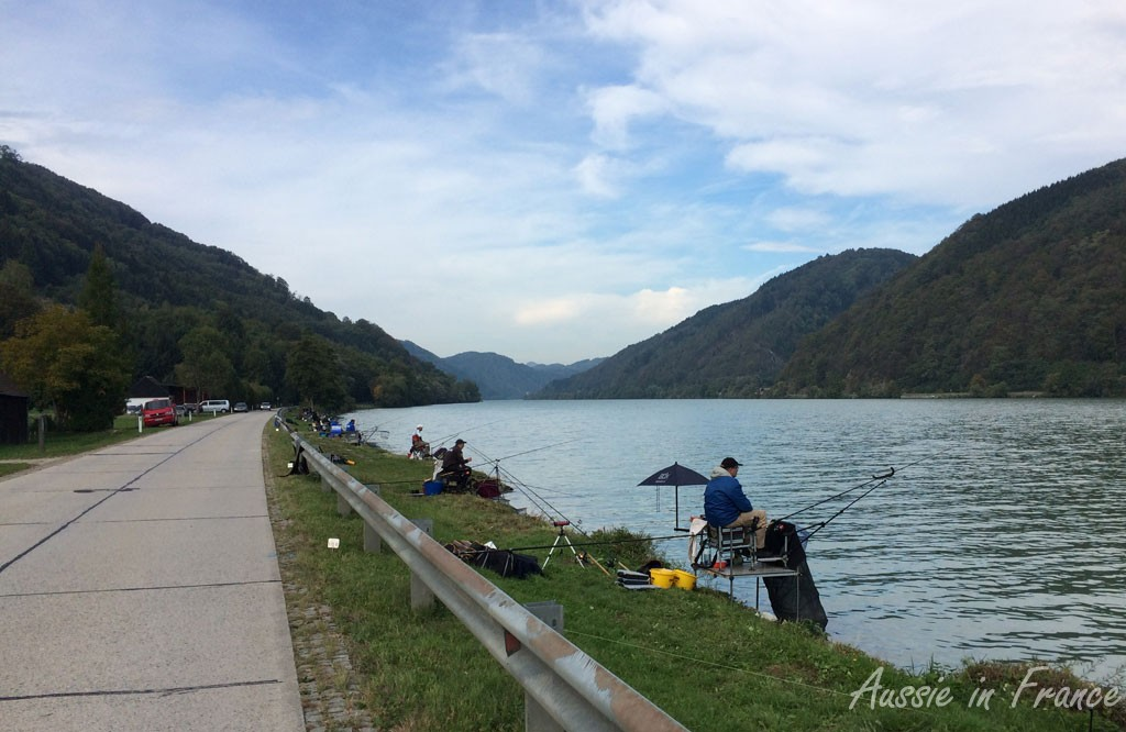 A fishing competition on the Danube