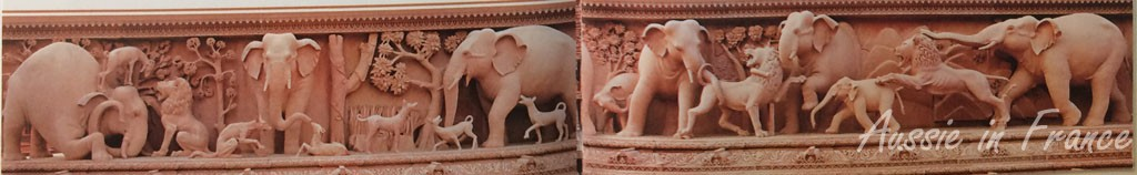 The elephant frieze (photo from a brochure)