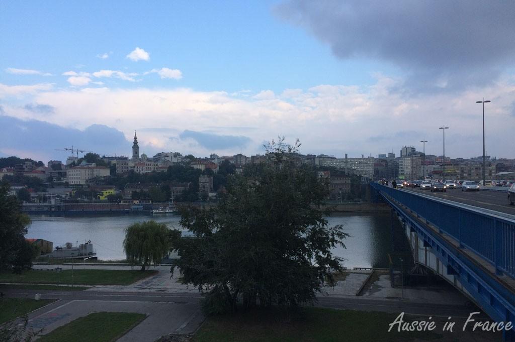 The bridge across to Belgrade centre