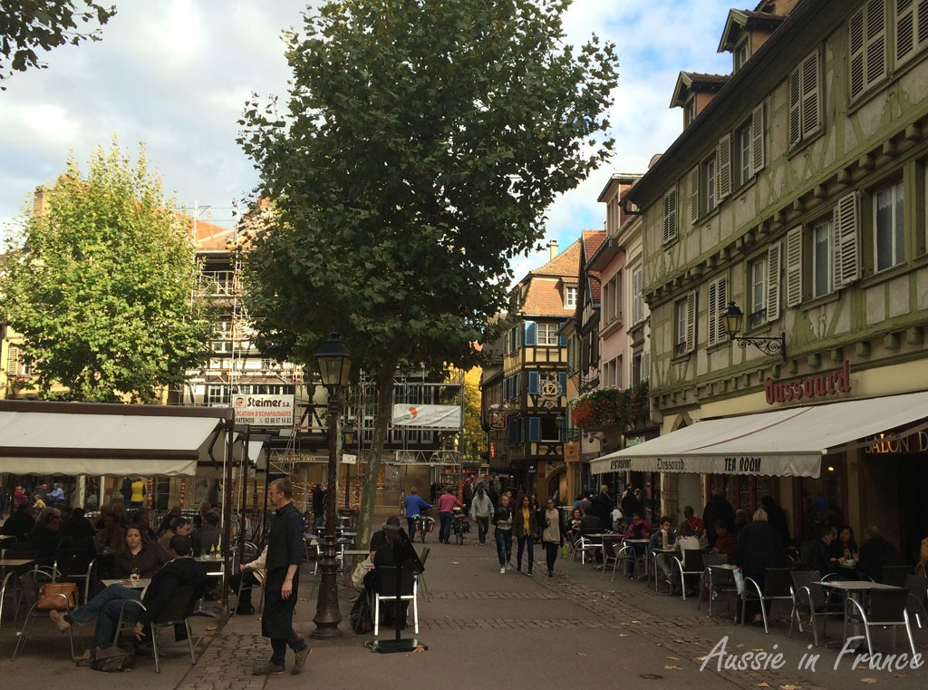 A busy street in Colmar