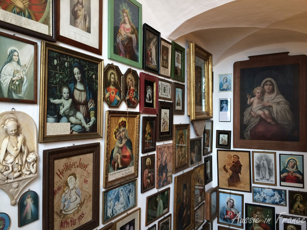 The holy picture collection at Maria Taferl Basilica
