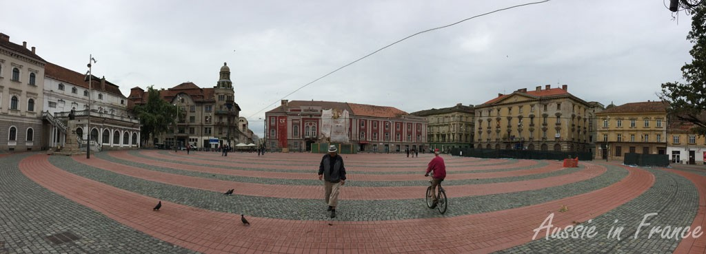 Piata Libiritii - my first attempt at a panoramic photo