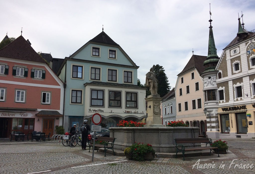 The historical centre of Grein