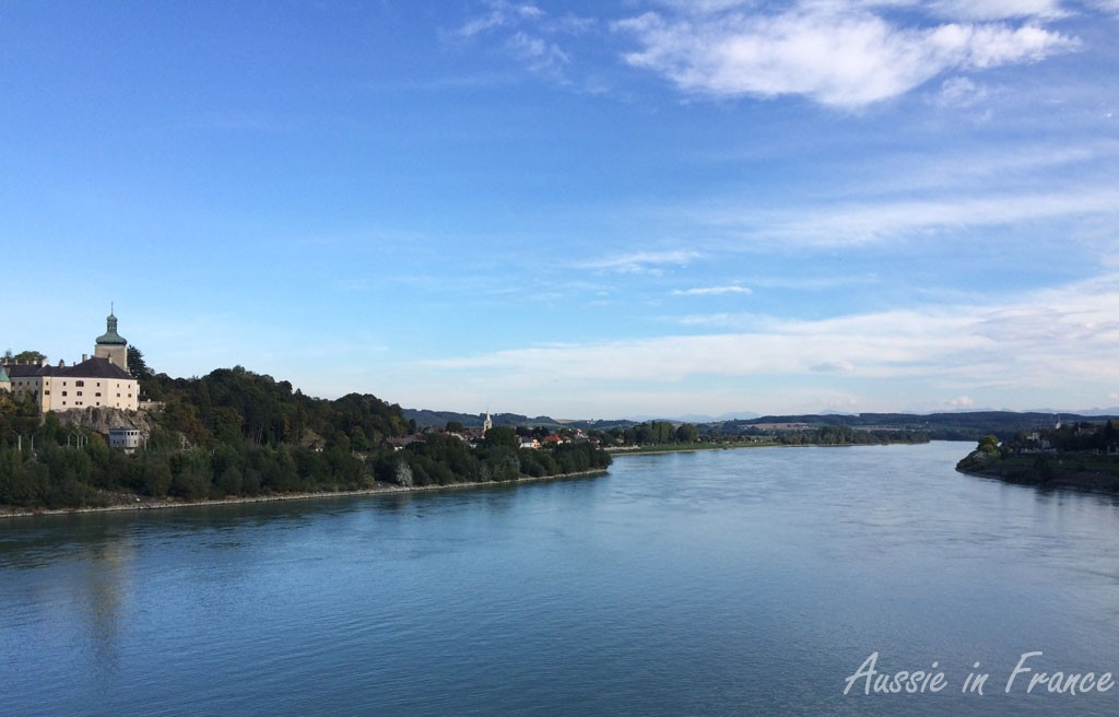 Saturday's blue sky and blue Danube