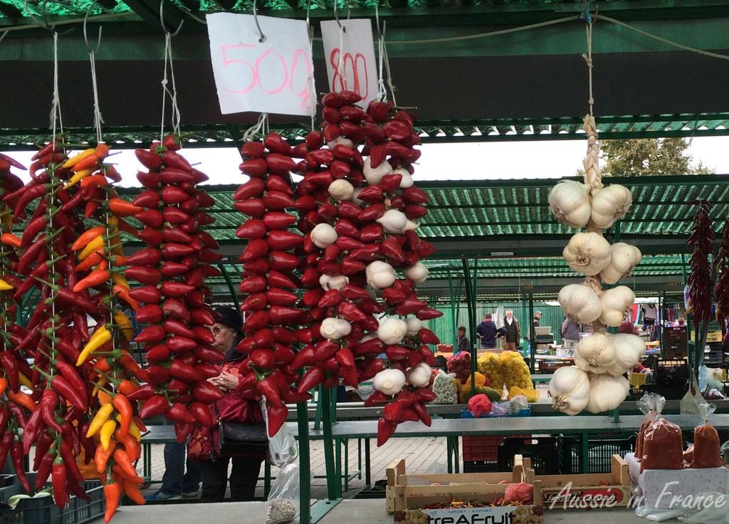 Paprika at the market