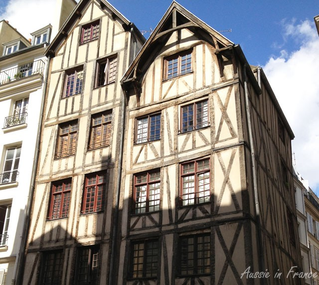 Mediaeval houses at 11 & 13 rue François Morin