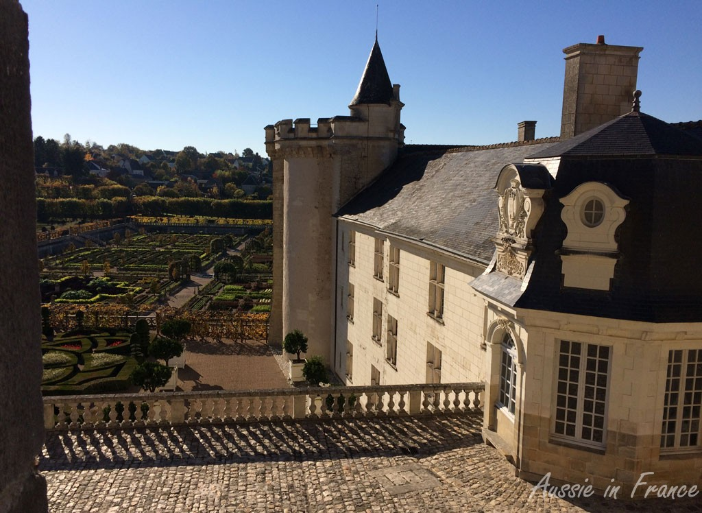 The château and gardens from the terrace