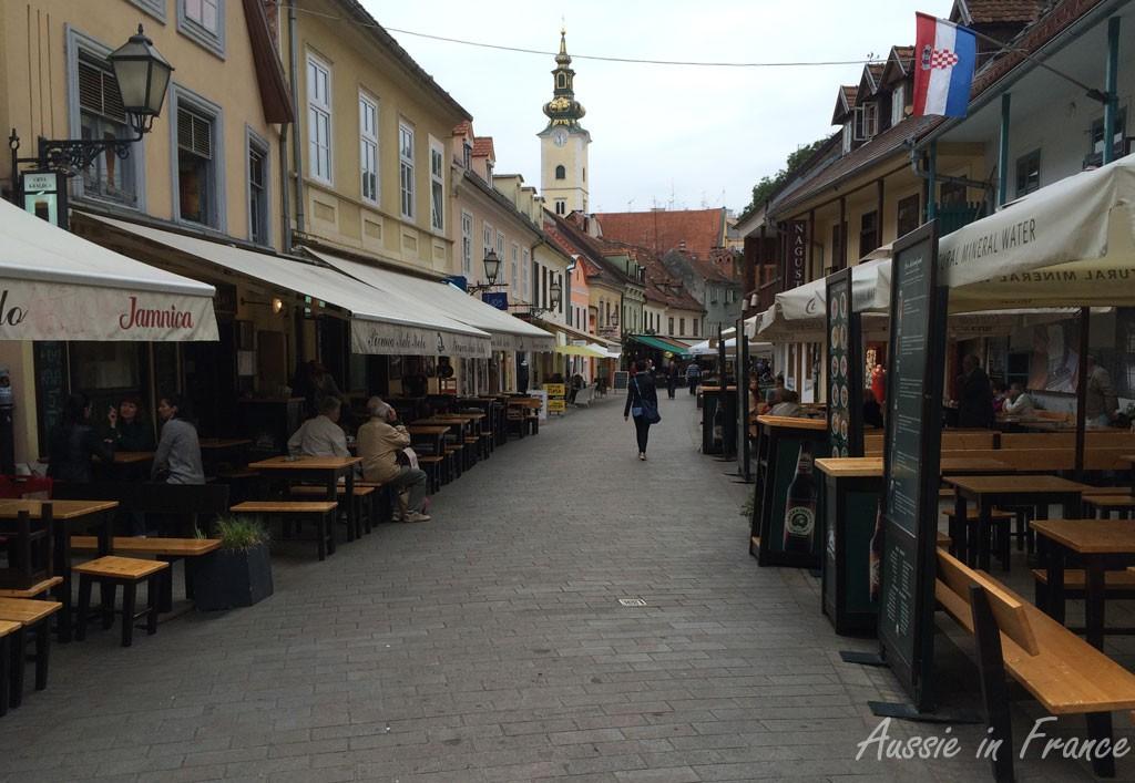 "The ""café"" street, Tklaciceva"