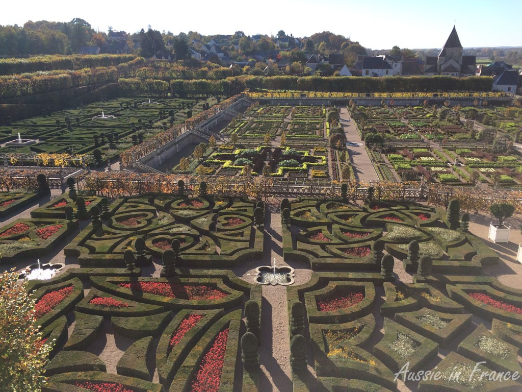 The love gardens at Villandry