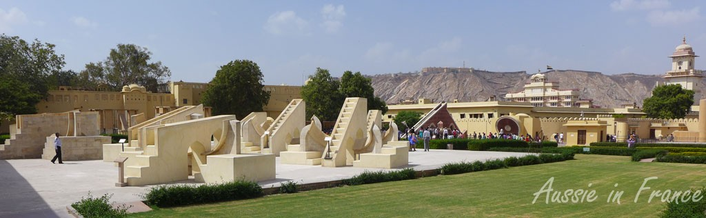 Some of the many astronomical instruments at Jantar Mantar