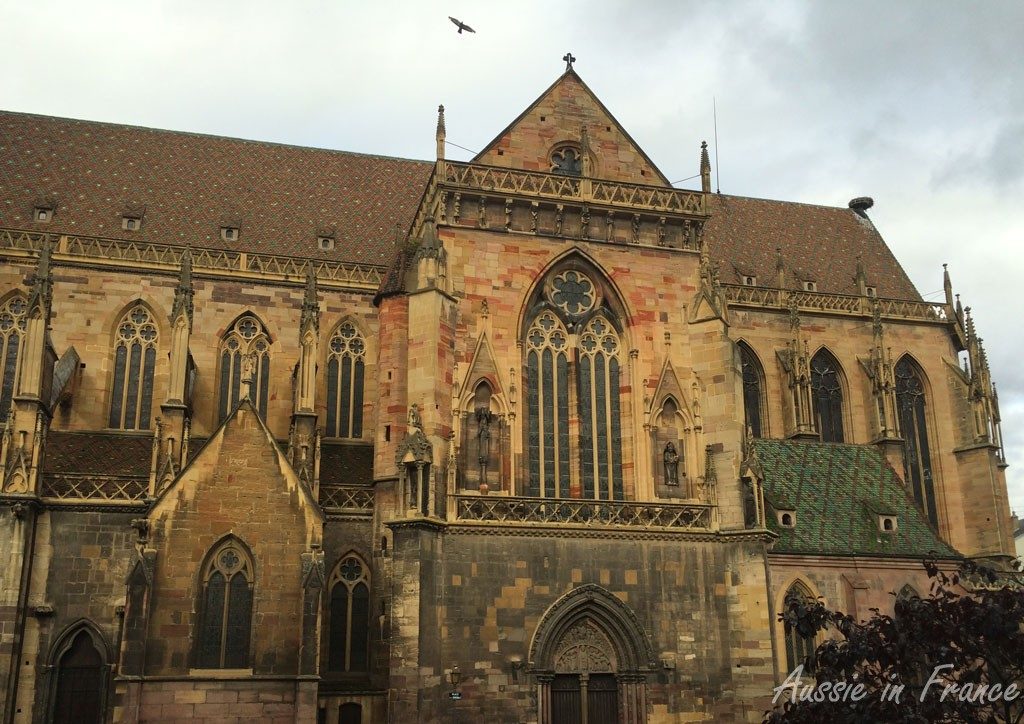 The multi-coloured pink sandstone of the Cathedral