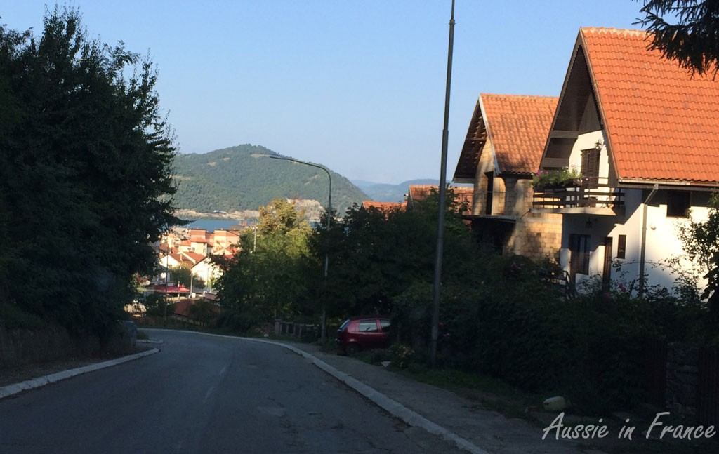 The view coming down the hill from the Lepenski Vir hotel