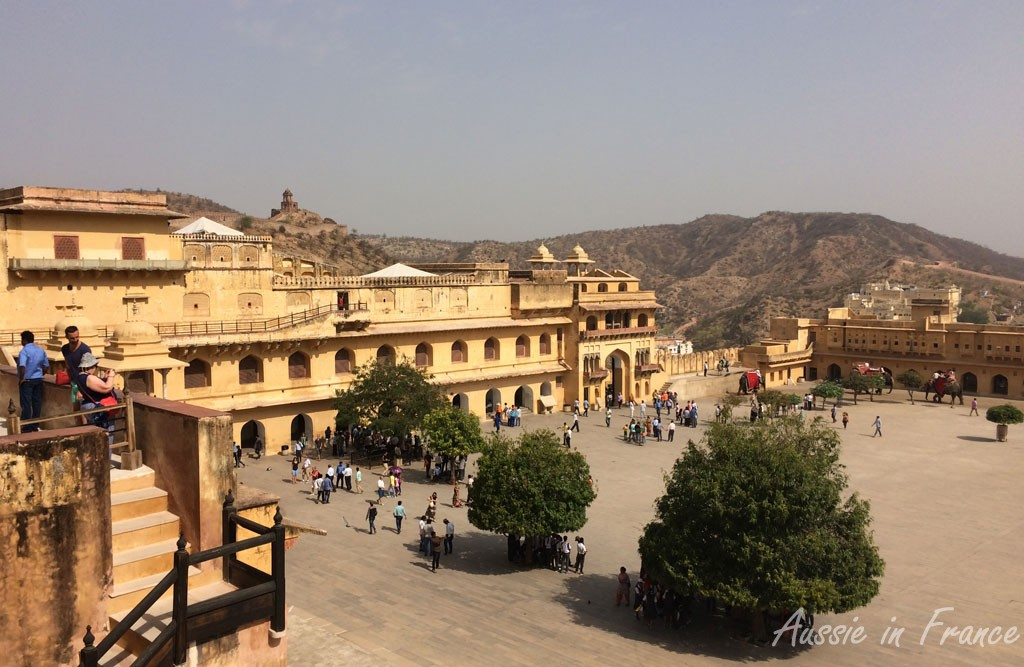 Main courtyard at Amber Fort