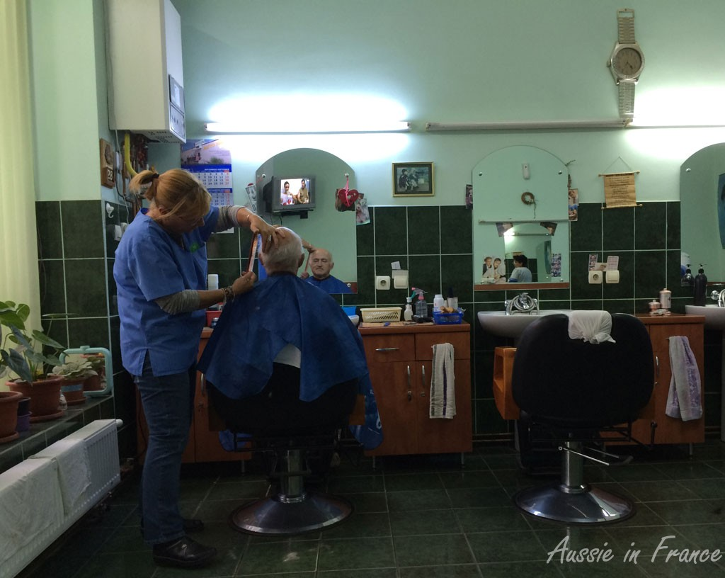 Inside the hairdressers