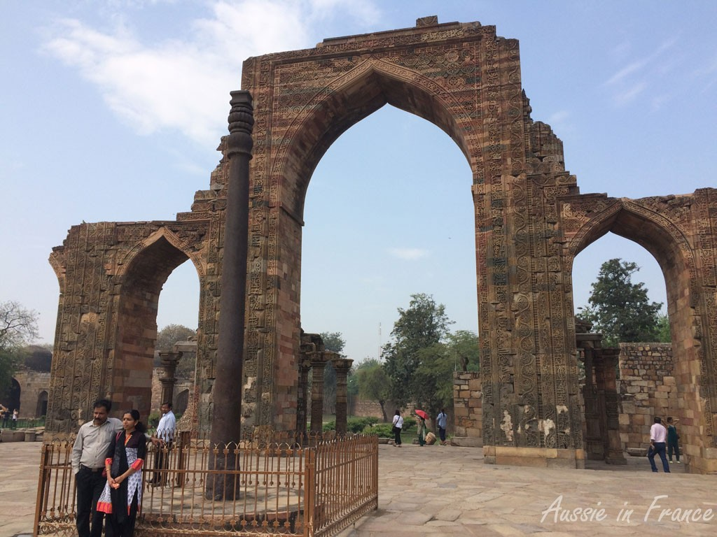 The iron pillar at Qtub Minar