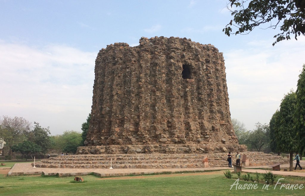 The unfinished minar at Qtub Minar