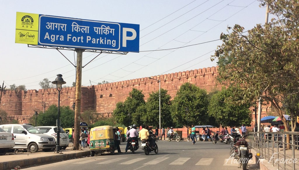 Arrival at Agra