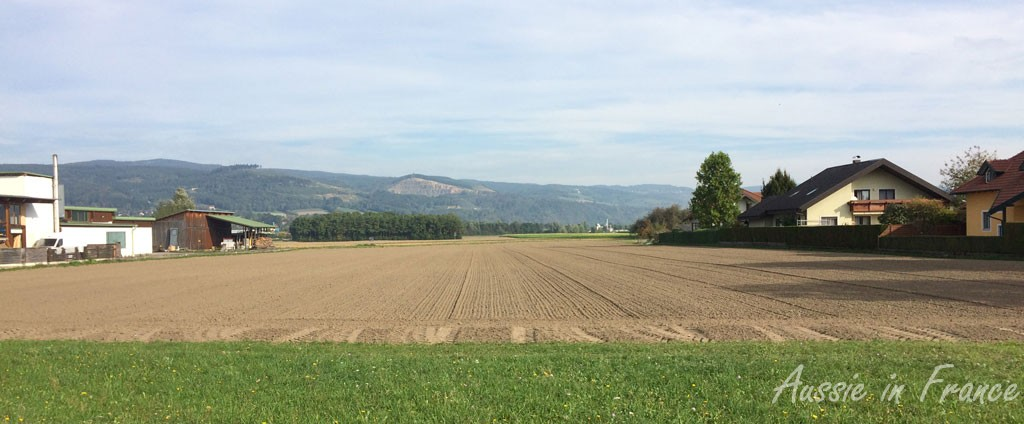 The view from the bike path into Hagsdorf