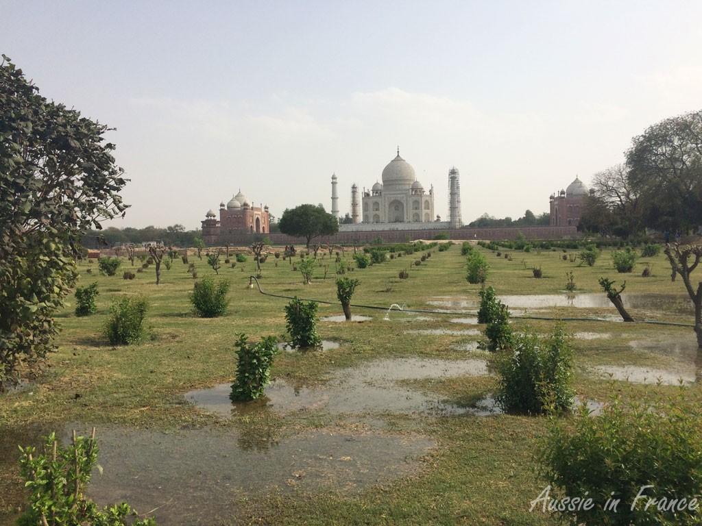 The soaked grounds in Makbati Gardens