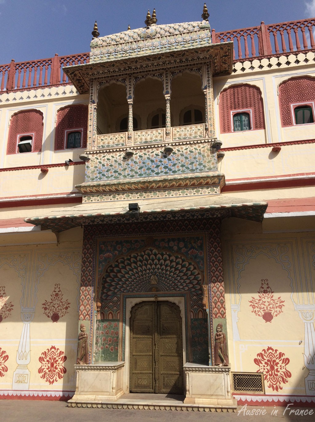 Close-up of one of the four entrances in the City Palace