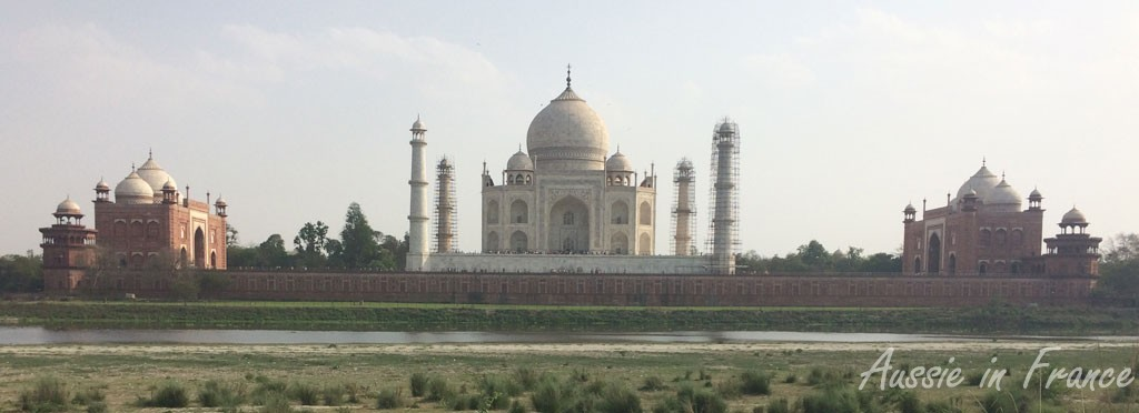 The Taj Mahal from the other side of the river