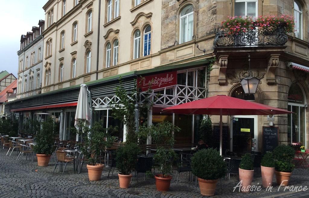 The café opposite Harmony Garden