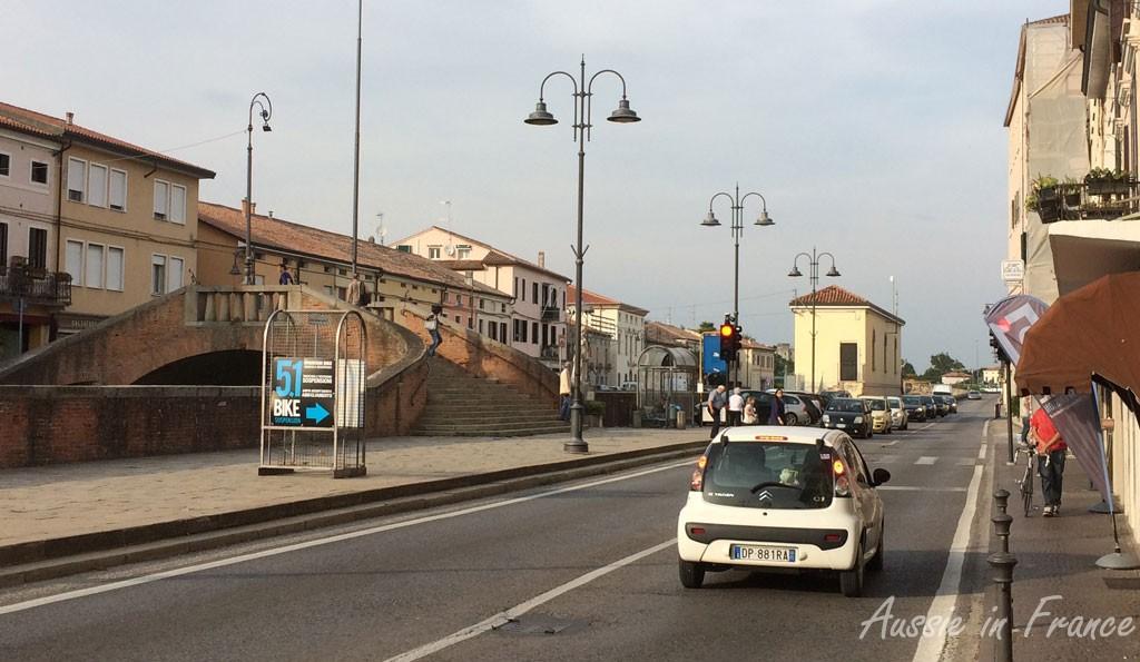 The 51-bike shop on the main road in Battaglia Terme