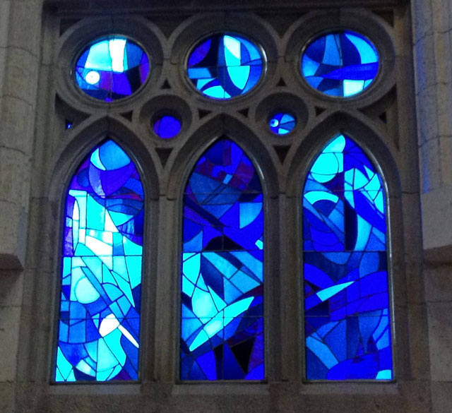 Just one of the magnificent stained glass windows