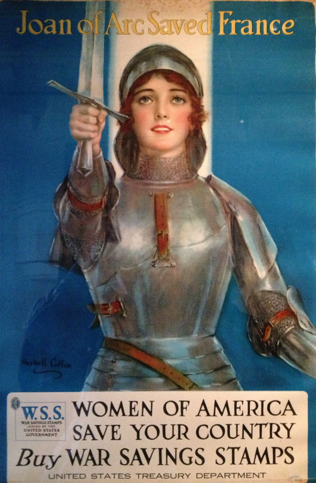 Joan of Arc held up as an example to American women!