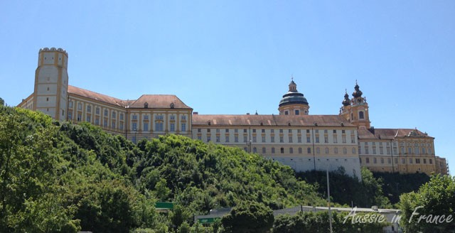 The first view of Melk Abbey