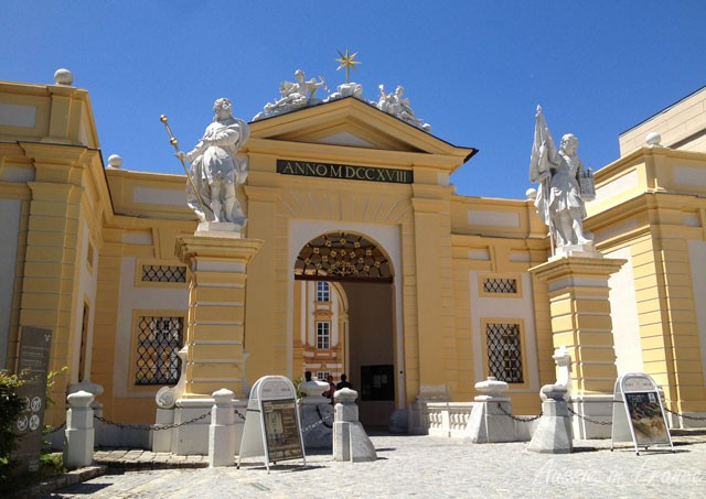 The entrance to Melk Abbey