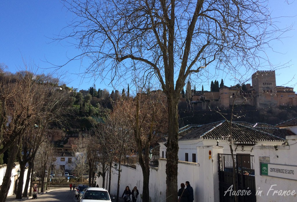 Our first sighting of the Alhambra