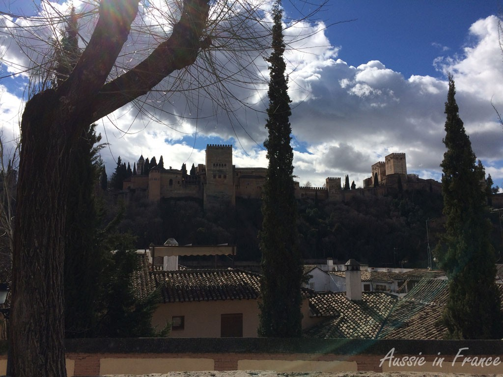 One of the many views of the Alhambra from the Albaicin quarter