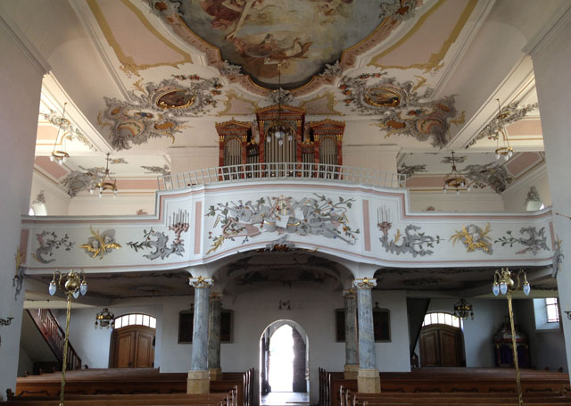 Balcony in the church in Alstein