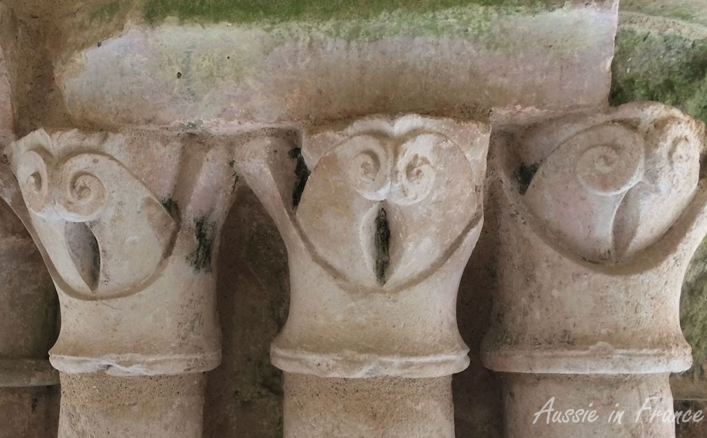 The very amusing capitals in the cloisters