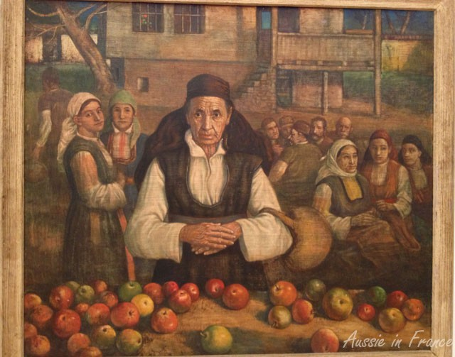 Old Woman with Apples (1933) by Vassil Stoilov (1904-1990)