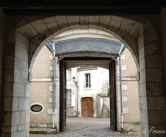 One of the town's many archways. This one leads from the town hall, originally a college, into one of the interesting little streets of Vendôme
