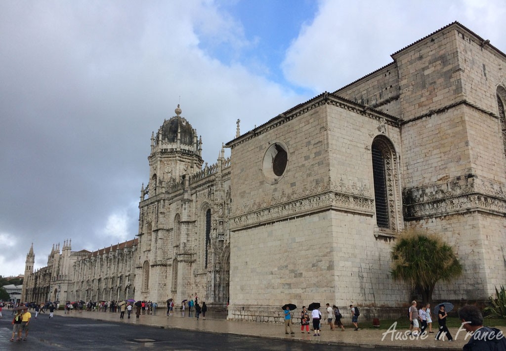 First view of the Jeronimos Monastery in Belem
