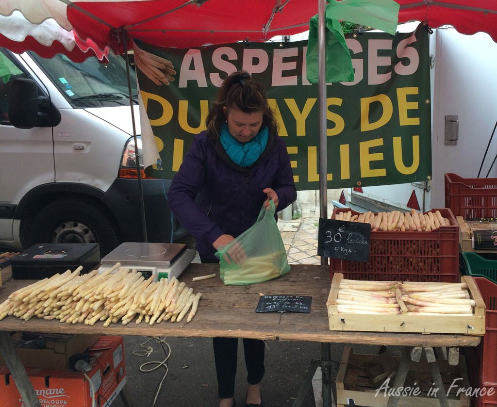 Specialised asparagus sellers appear in season