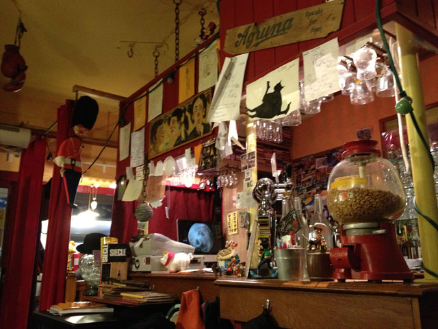 The very eclectic interior of Au Coin d'Table