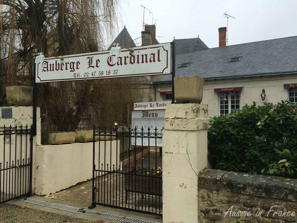 Auberge Le Cardinal in Richelieu where we had lunch