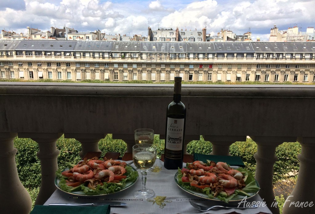 Lunch on our balcony