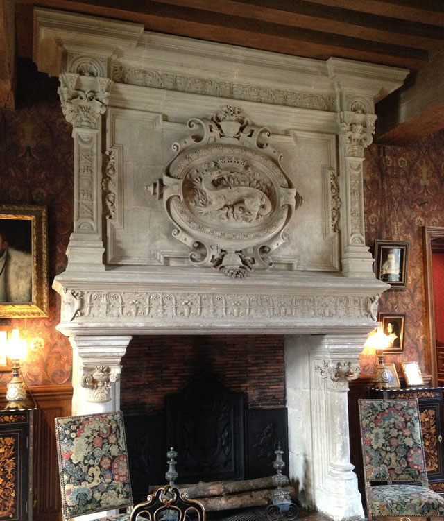Salamander fireplace in Azay-le-Rideau