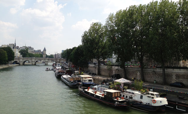 Le Cathare from Pont des Arts