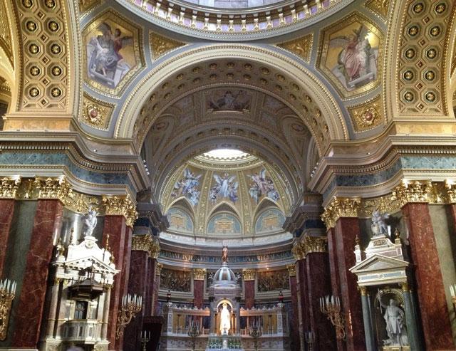 Interior of Saint Stephen's Basilica
