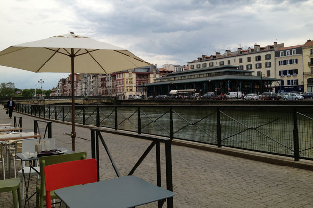 On the quayside in Bayonne