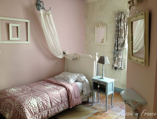 Our bedroom consisted of four separate rooms - single bed, a double bed, a cot and a bathroom but this room had the most typical decoration