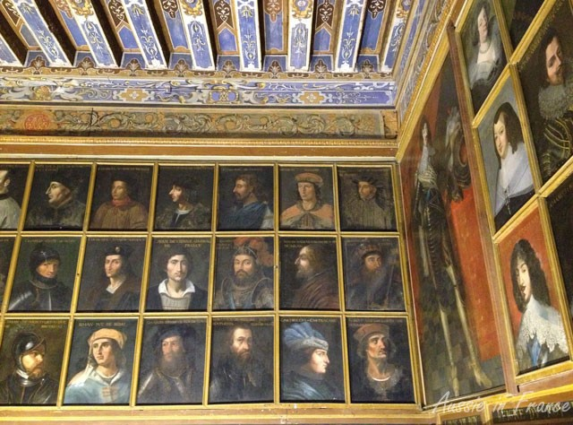 Close-up of some of the portraits